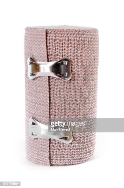 elastic wrap bandage - elastic bandage stock photos and pictures