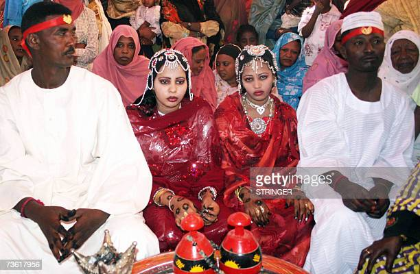 Sudanese brides and their grooms attend their wedding party in ElBawga 16 March 2007