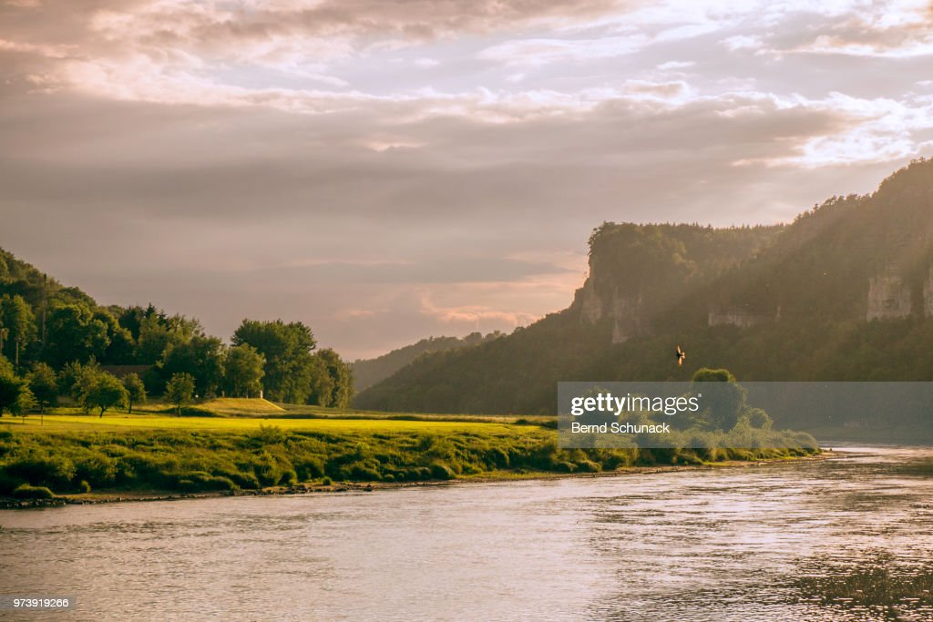 Elbe and Elbe Sandstone Mountains : Stock-Foto