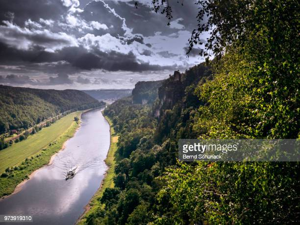 elbe and elbe sandstone mountains - bernd schunack stock pictures, royalty-free photos & images