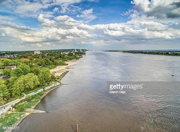 Elbe River Aerial View