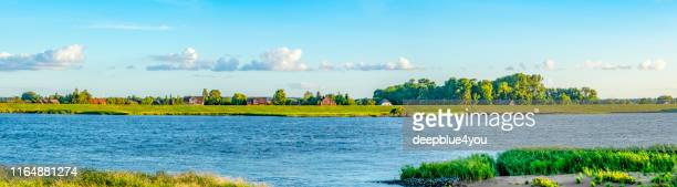 elbe river panoramic - riverbank stock pictures, royalty-free photos & images