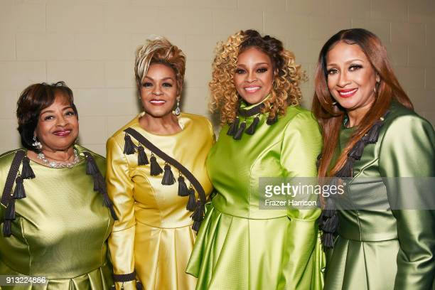 Elbernita ClarkTerrell Jacky ClarkChisholm Dorinda ClarkCole and Karen Clark Sheard of The Clark Sisters at BET Presents 19th Annual Super Bowl...
