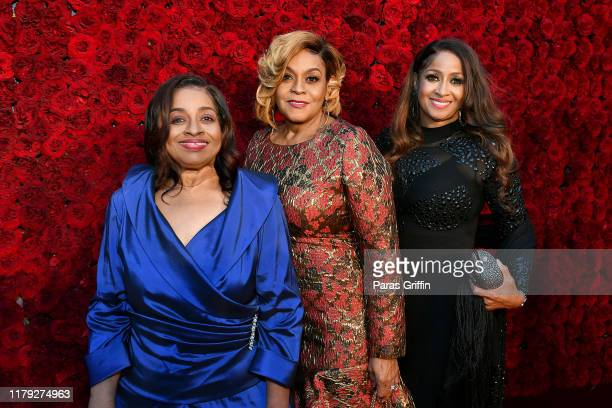 Elbernita Twinkie Clark Dorinda ClarkCole and Karen Clark Sheard of The Clark Sisters attend Tyler Perry Studios grand opening gala at Tyler Perry...