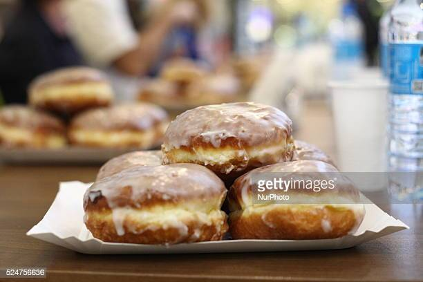 Elblag Poland 4th February 2016 6th Donuts Fast Eating Championships in Elblag organized by the Dziennik Elblaski daily newspaper and Raszczyk...