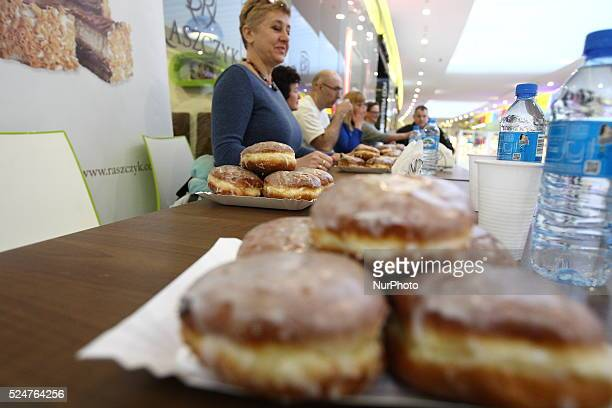 Elblag Poland 4th February 2016 6th Donuts Fast Eating Championships in Elblag organized by the Dziennik Elblaski daily newspaper and Raszczyk...