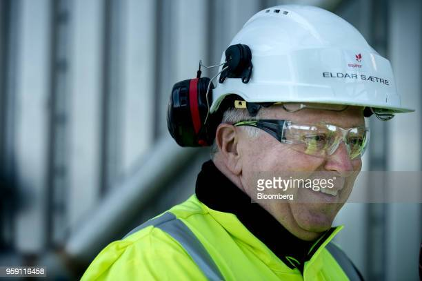 Eldar Saetre chief executive officer of Equinor ASA reacts on board the Troll A natural gas platform operated by Equinor ASA in the North Sea Norway...