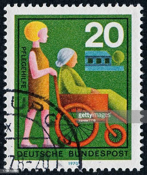Altenpflege Stamp