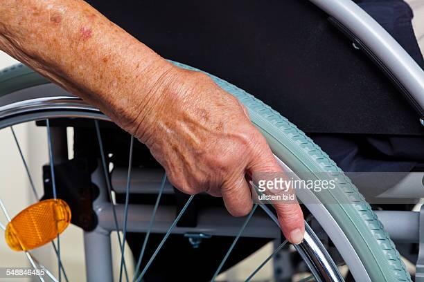 elder lady in a wheel chair