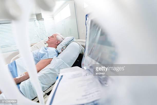 Elder man at the Intensive Care Unit