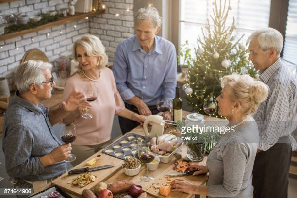 Elder people enjoy in holidays