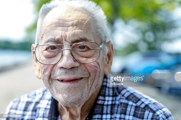 elderly 95 year old senior adult man portrait - 90 plus years stock pictures, royalty-free photos & images
