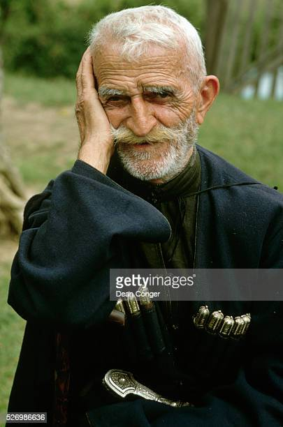 Elderly Abkhazian Man in Traditional Dress