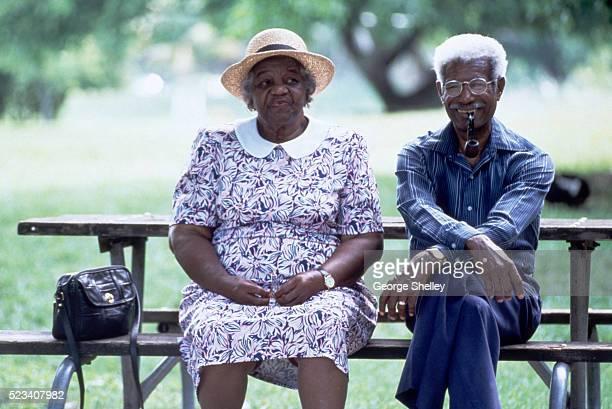 Elderly African American Couple