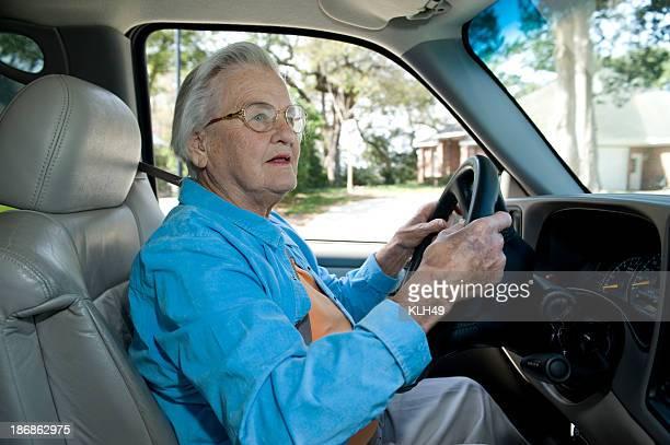 Älterer Automobile Fahrer