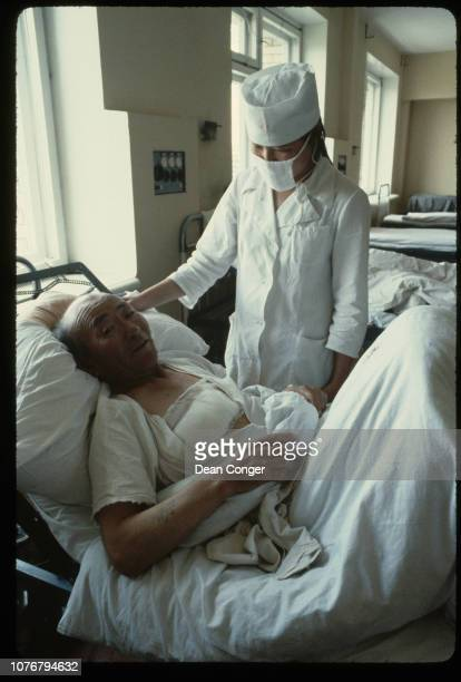 Elderly Cancer Patient and Nurse Mongolia