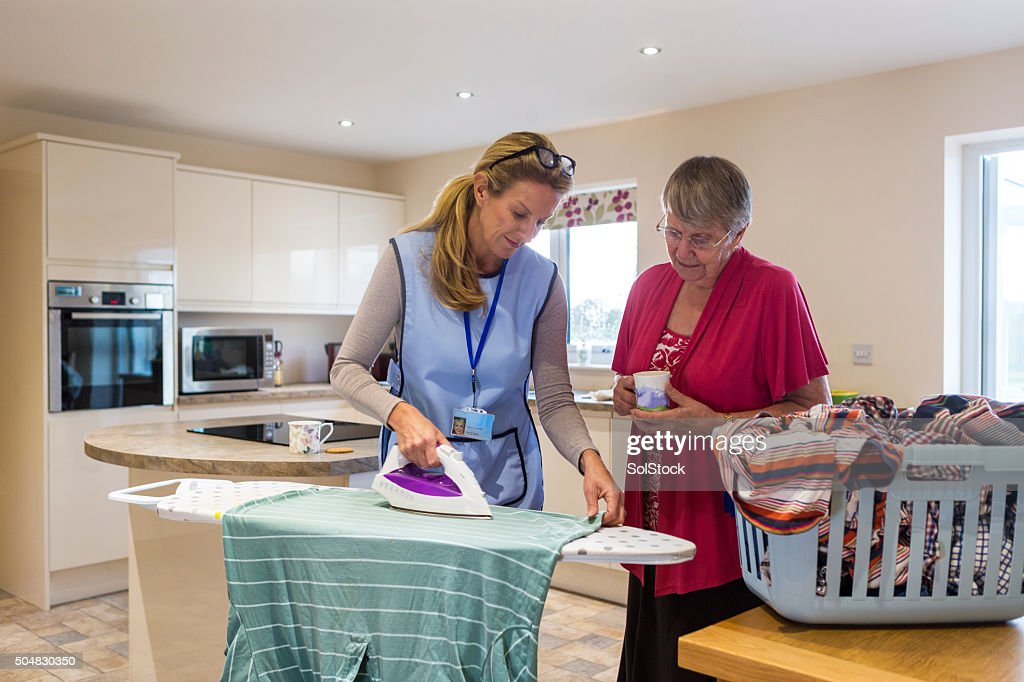 Elderly Care in the Home : Stock Photo