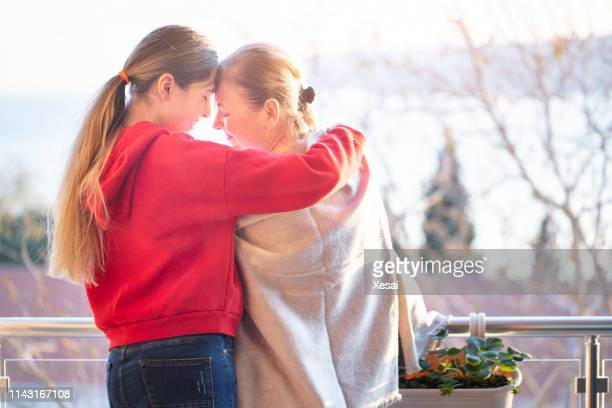 elderly care old and young - hospice stock pictures, royalty-free photos & images