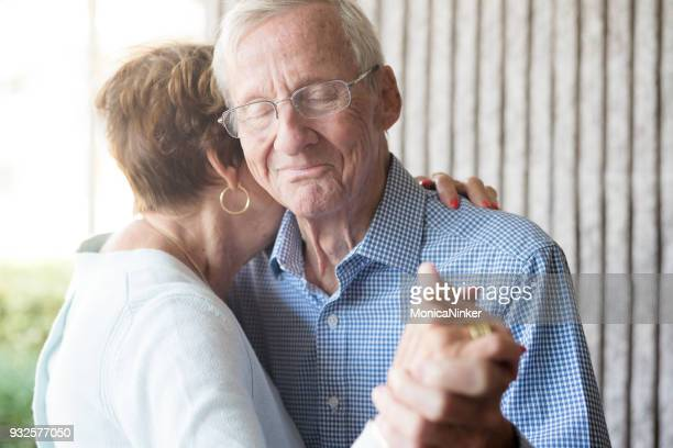 elderly couple dancing - alzheimer's disease stock pictures, royalty-free photos & images