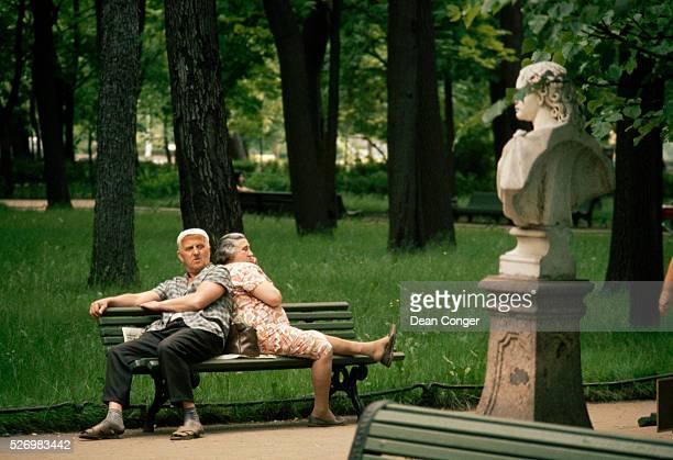 Elderly Couple in Leningrad Park