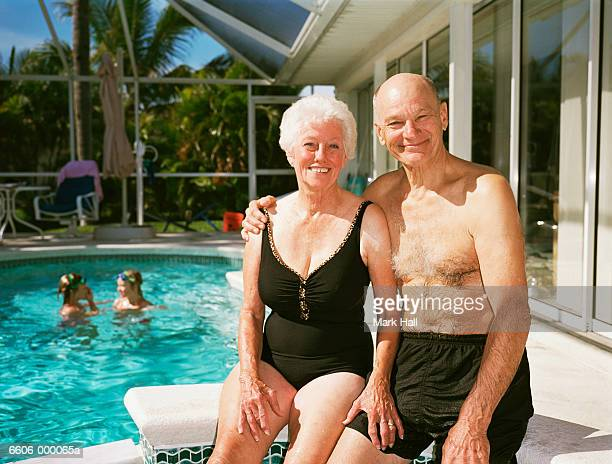 Elderly Couple in Pool
