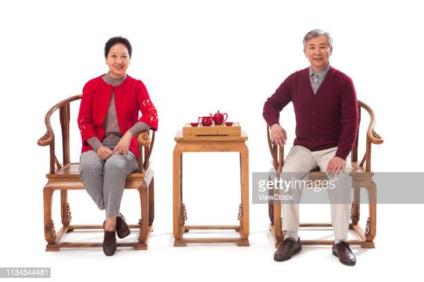 Elderly couple shopping in the New Year