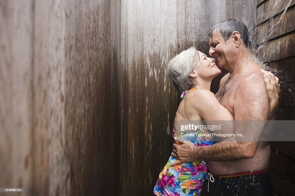 Men and women in the shower together