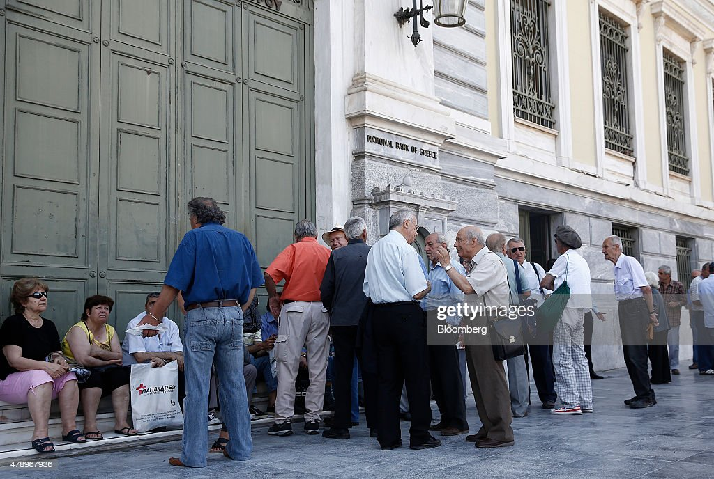 Reaction As Greece Imposes Capital Control : News Photo
