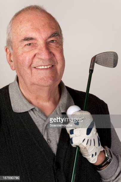 Elderly golfer