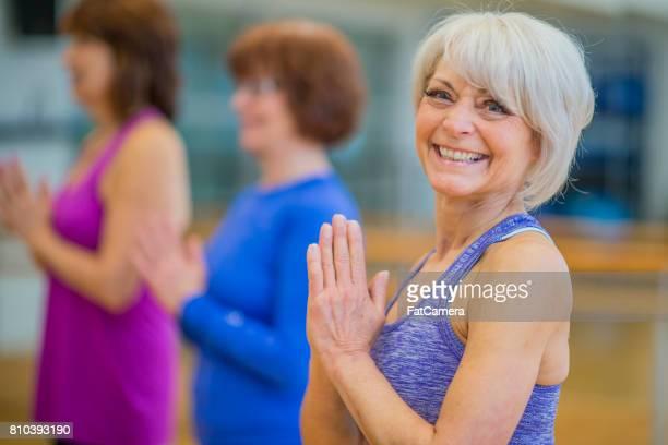 Elderly Group Yoga