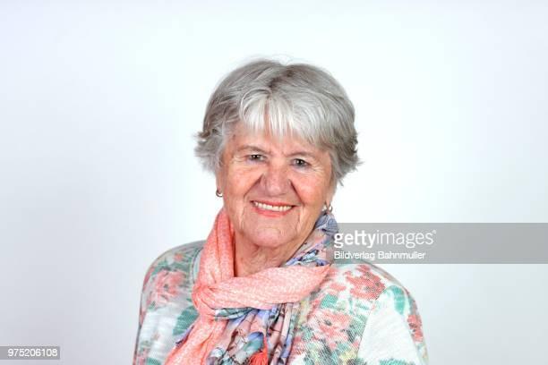 Elderly lady, portrait, Bavaria, Germany