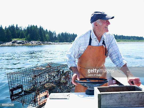 Elderly lobster fisherman