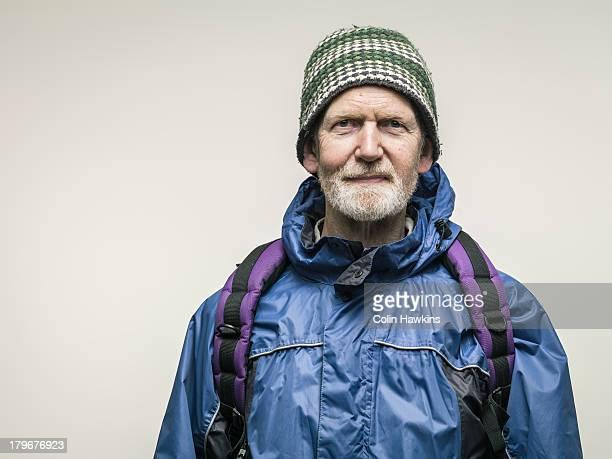 Elderly male hiker