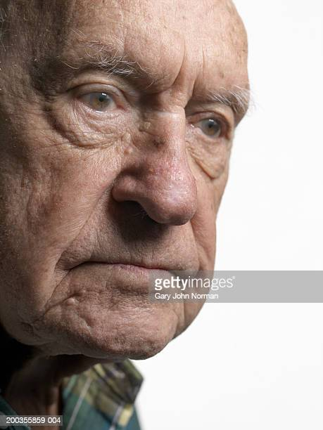 elderly man, close-up - norman elder stock photos and pictures