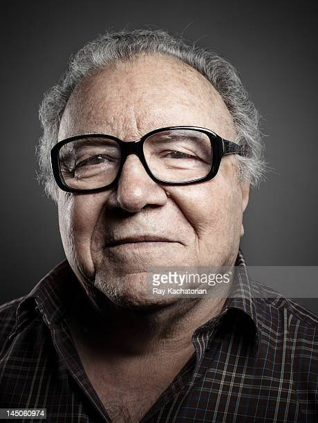 Elderly man in glasses, portrait.
