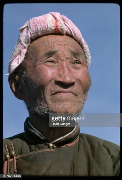 Elderly Man in Rural Mongolia