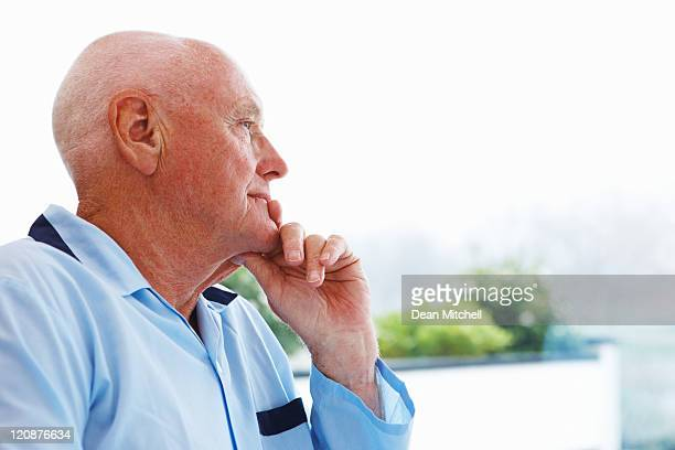 Elderly Man in Thought