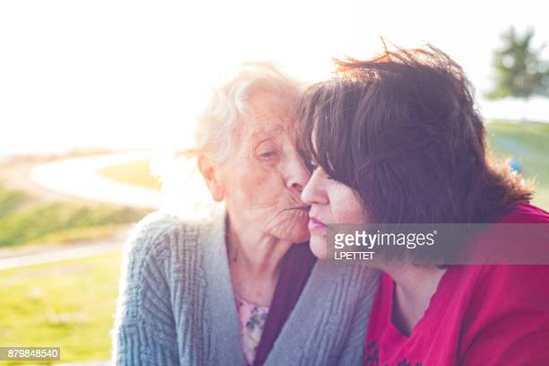 elderly mother - hospice stock pictures, royalty-free photos & images