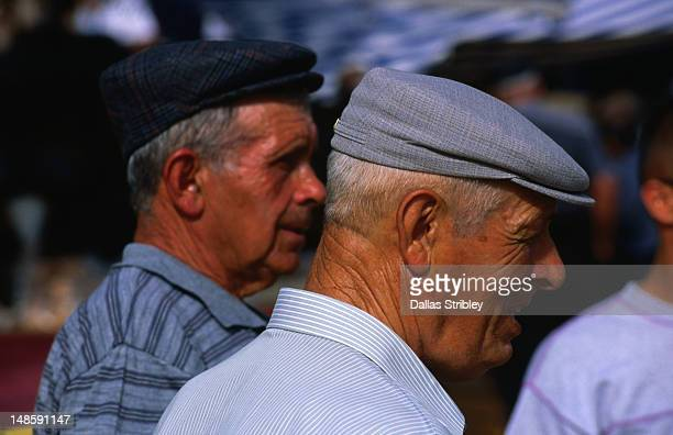 Elderly Sardinian men at the S'Ardia festival.