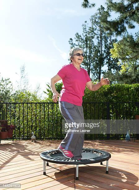 Elderly Woman on Tr