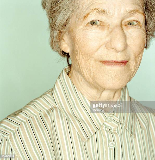elderly woman, portrait, close-up - microzoa stock pictures, royalty-free photos & images