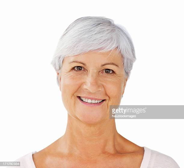 Elderly Woman Smiling - Isolated