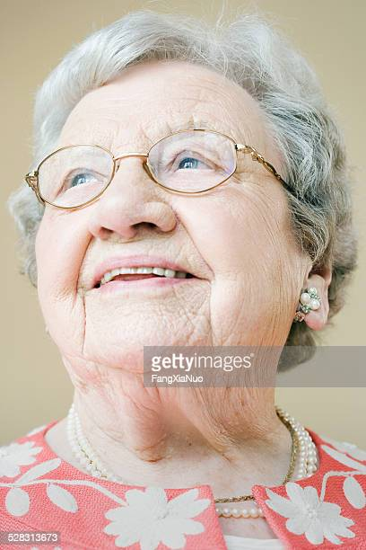 elderly woman smiling - over 100 stock photos and pictures