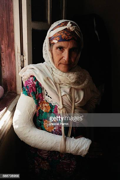 Elderly woman who survived the Bentalha Massacre during which 400 people died | Location Benthala Algeria