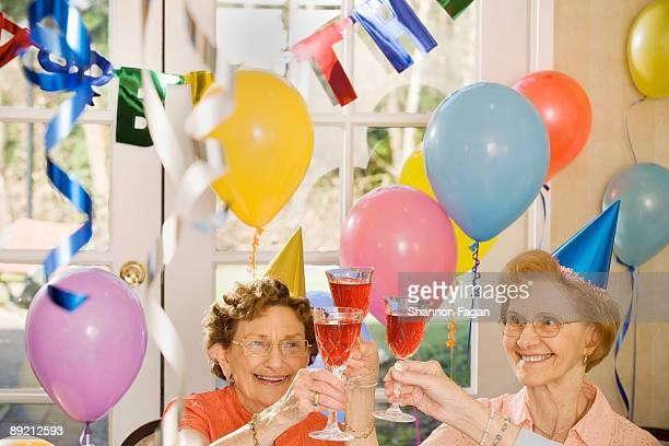 Elderly Women Celebrating Birthday