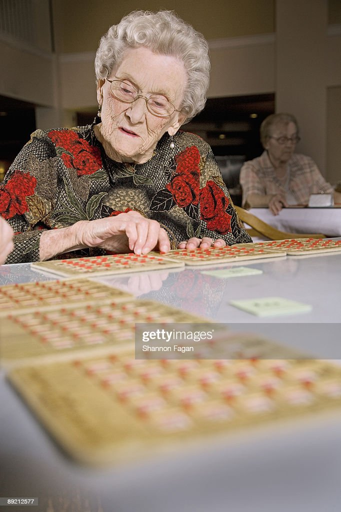 Elderly Women Playing Games In Retirement Home Stock Photo - Getty