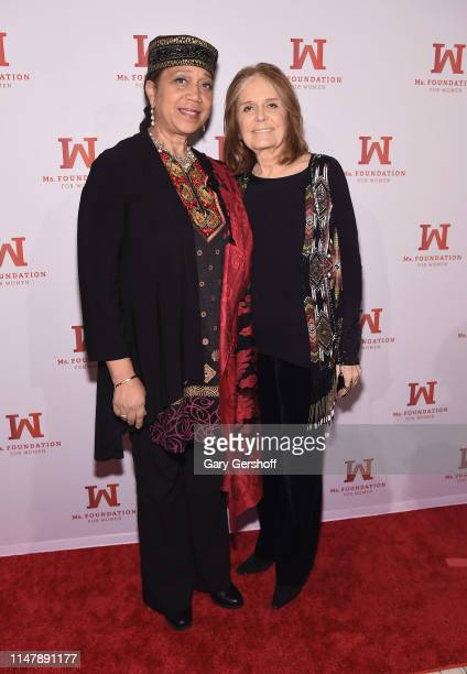 Eldest daughter of Malcolm X Attallah Shabazz and Founding Mother Ms Foundation Gloria Steinem attend the 'Gloria Awards Salute To Women Of Vision'...