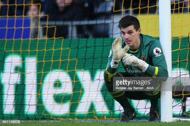 Eldin Jakupovic of Hull City during the Premier League match between Hull City and Liverpool at KCOM Stadium on February 4 2017 in Hull England