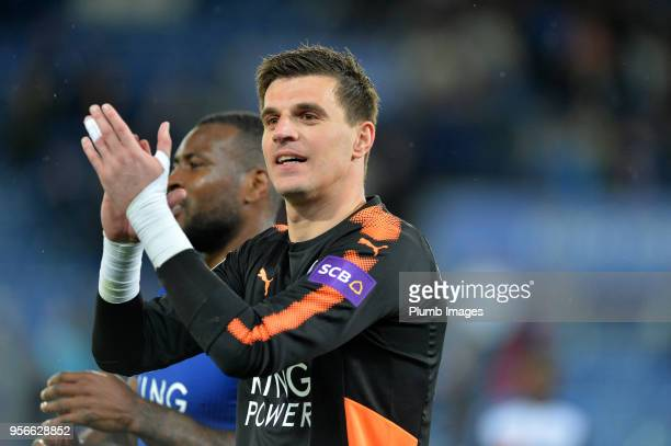 Eldin Jakupovic of Leicester City after the Premier League match between Leicester City and Arsenal at King Power Stadium on May 9th 2018 in...