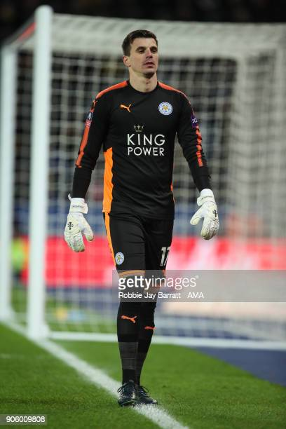 Eldin Jakupovic of Leicester City during The Emirates FA Cup Third Round Replay match between Leicester City and Fleetwood Town at The King Power...